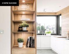 Kitchen Room Design, Kitchen Cabinet Design, Kitchen Reno, Diy Kitchen, Kitchen Cabinets, Home Interior Design, Home Kitchens, Bookcase, Shelves