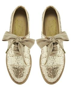 glitter lace shoes / asos