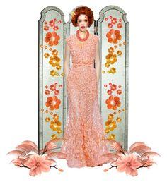 """~~ ELI SAAB & SATINEE ~~"" by queenofthegypsies ❤ liked on Polyvore featuring art"