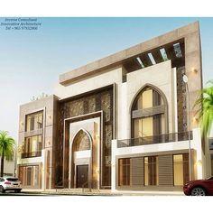 This Pin was discovered by Fle Villa Design, Facade Design, Classic House Design, House Front Design, Classic Architecture, Architecture Design, Interior Exterior, Exterior Design, Le Riad