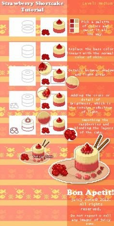 A very quick steps of how to make a pixel swirl. Tutorial: how to make swirl Digital Art Tutorial, Digital Painting Tutorials, Art Tutorials, Pixel Art Food, Food Art, Pixel Drawing, Pix Art, Pixel Art Games, Kawaii Doodles