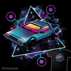 vaporwave car Retro Wave Time Machine T Shirt By Vincenttrinidad Design By Humans New Retro Wave, Retro Waves, Back To The Future Tattoo, Ready Player One, Trendy Wallpaper, Retro Aesthetic, Retro Futurism, Cultura Pop, Retro Art