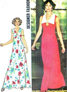 1970s Dress Pattern Simplicity 6344 Empire Waist by paneenjerez, $14.00