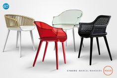 Magis Cyborg Armchairs by Marcel Wanders