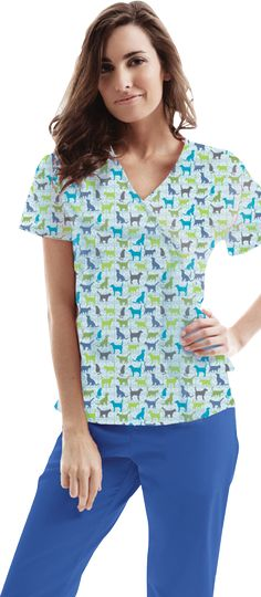 ASPCA Animal print scrubs