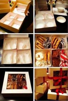 Diy Christmas Cookies Packaging Ideas - New Ideas Christmas Cookie Boxes, Christmas Cookies Packaging, Healthy Christmas Cookies, Chocolate Christmas Cookies, Christmas Baking, Christmas Parties, Diy Christmas, Homemade Christmas, Cookies Box