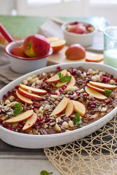 Apple Cinnamon Baked Oatmeal | MarlaMeridith.com-stevia sweetened, serves 8, takes about 1 hour total