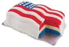 American Flag Ice Cream Cake