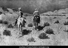 Government Scouts-Moonlight - Frederic Remington - www.frederic-remington.org