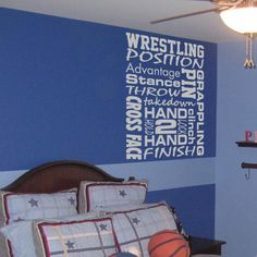 Wrestling+Subway+Art++Sports+Vinyl+Wall+Word+by+GSGVinylDesigns,+$28.00
