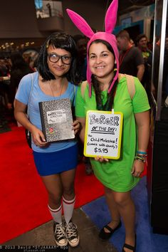 Tina Belcher and Louise Belcher (from Bob's Burgers) #cosplay | NYCC 2013