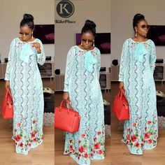 The Eid Collection is here! This season you are not ready😄 Very Limited.Be Kikswoman👌 To order send us a DM or WhatsApp Long African Dresses, African Lace Styles, African Print Dresses, African Clothes, African Prints, African Fashion Ankara, African Print Fashion, Africa Fashion, Nigerian Dress