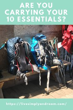 Learn about the 10 essentials you need to have with you for hiking. Don't be left without them. Everything you need to carry on the trail. Be prepared for emergencies. 10 Essentials for your backpack.