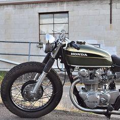 Great looking Honda #hondacb #vintageMotorcycle #honda #caferRacers nice bike revmoto