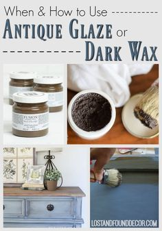 Painting antique furniture - When and How to use Antique Glaze or Dark Wax on your Painted Furniture – Painting antique furniture Waxing Painted Furniture, Glazing Furniture, Painting Antique Furniture, Furniture Wax, Chalk Paint Furniture, Distressed Furniture, Repurposed Furniture, Shabby Chic Furniture, Vintage Furniture