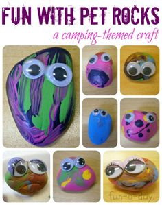 Fun with Pet Rocks {A Camping-Themed Craft}