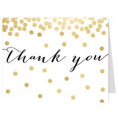 Pop Fizz Clink Gold Thank You Card