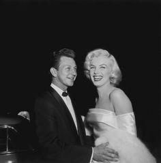 "Marilyn and Donald O'Connor at the premiere of ""Call Me Madam."""