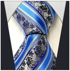 Silver / Blue Stripe - Neckties Only Collection - NTO-X17 >>> $14.95 w/ Free shipping @ NecktiesOnly.com