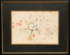 Modern & Contemporary Art Auction*** Thursday, November 20th ***Lot 23 Artist: Alexander Calder, American (1898 - 1976) Title: Untitled - Nosewiper Year: circa 1975 Medium: Painted Handkerchief, signed 'CA' Size: 13 in. x 18.5 in. (33.02 cm x 46.99 cm) Frame Size: 23 x 29 inches  Price Estimate: $30000 - $40000 Opening Bid: $25,000