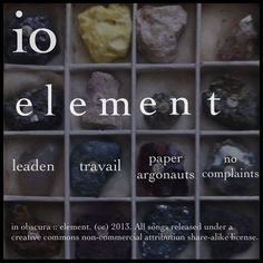 io :: element :: back cover All Songs, Cover, Music, Musica, Musik, Muziek, Blanket, Music Activities, Songs