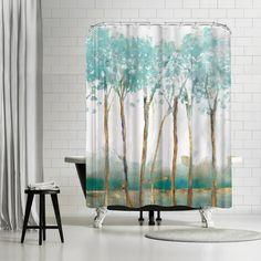 East Urban Home PI Creative Art Movement Shower Curtain Hookless Shower Curtain, Dream Catcher Mandala, Shower Sizes, Garden Shower, Striped Shower Curtains, Shower Curtain Sets, Bathroom Furniture, Creative Art, Crafts To Make