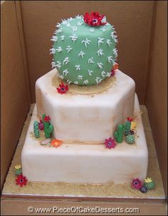 A Blooming Cactus wedding cake. Lolz.