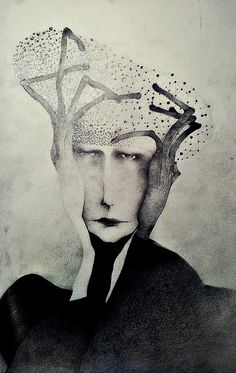 """""""man with hat made out of stars"""" by Sonja Barbaric/ (pencil on paper)"""