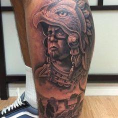 Tattoo Armband Aztec Sun