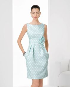 Kurzes, getupftes Piqué-Kleid (c) Rosa Clara Simple Dresses, Pretty Dresses, Blue Dresses, Vintage Dresses, Beautiful Dresses, Short Dresses, Formal Dresses, Dresses For Work, I Dress