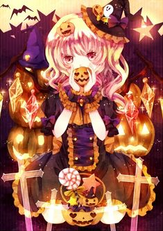 Resultado de imagem para kawaii anime halloween