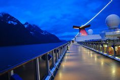 The early bird may get the worm, but the night owl gets the photograph. (Alaska from a Fun Ship at 3 am).