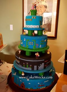 I have a friend getting married soon.  He needs this cake.  re: @James Wu