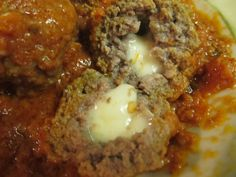 Mozzarella Stuffed Meatballs #FeedtheClan