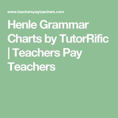 Henle Grammar Charts by TutorRific | Teachers Pay Teachers