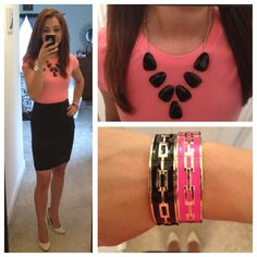 """""""On Wednesdays we wear pink""""  Office outfit, workwear, love it! ❤"""