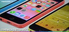Além do iPhone 5S, também foi lançado o iPhone 5C, que promete uma versão mais barata por ser de plástico. Eles são todos coloridinhos e você pode usar uma capinha também! Falei mais sobre eles aqui: http://maga.lu/iPhone5sNovidade