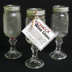 Hey y'all – You don't have to be a redneck to enjoy this one of a kind glass, but you do have to have a sense of humor. Each Redneck Wine Glass is equipped with its very own travel lid! Just fill with your favorite beverage & enjoy the good life! Use as a fun gift for all your redneck friends and family. Fill with a variety goodies, or even use as candle holders. Easy to make.