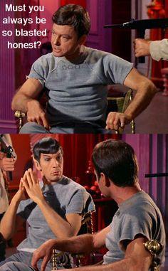 Star Trek TOS #MrSpock #DrMcCoy