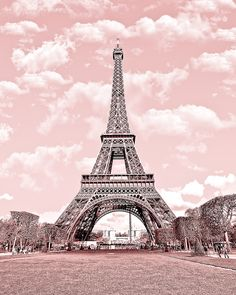 Paris in pink, Eiffel Tower, Paris Decor, France 8 x 10 Digital Printable Fine Art Photography, E5. $9.99, via Etsy.