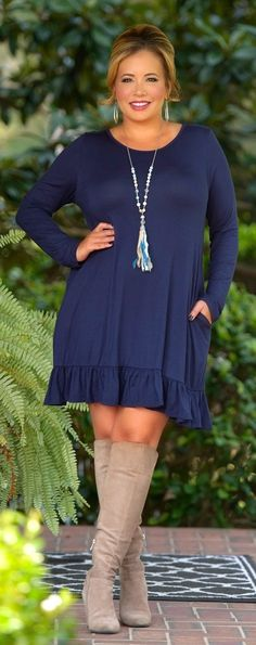 Looking For Trouble Dress -Navy - Perfectly Priscilla Boutique