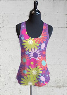 Printed Racerback Top - Rose Pastel by VIDA VIDA Outlet Store Locations Cheap Sale Brand New Unisex Drop Shipping oWxyr
