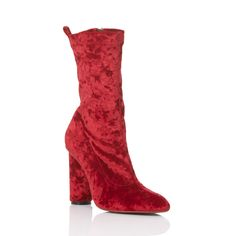 bella short boots in red by yello