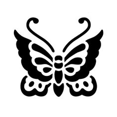 Butterfly Stencil Stencils Motifs And Prints