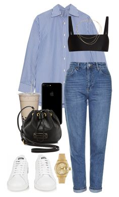 """Untitled #545"" by naomiariel ❤ liked on Polyvore featuring Balenciaga, Matteau, Topshop, adidas, Marc by Marc Jacobs, Rolex and Tiffany & Co."