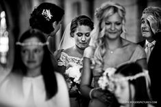 A steadying hand from her bridesmaid before Natalie's Kensington Palace wedding, on the blog here -