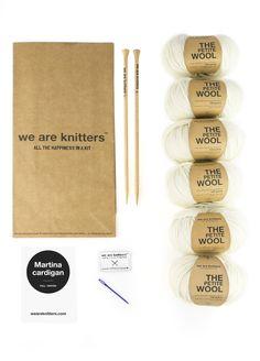 Knitting Kit Petite Wool Martina Cardigan