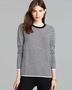 Equipment Sweater - Violet Mixed Jacquard Crewneck
