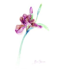 watercolor flower, iris print, purple painting, iris flower violet watercolor, handmade painting, flower wall art, home design, iris art  ----------------------------------------------------------------------------------------------------------------------------------  This listing is for a high resolution INSTANT DOWNLOAD JPEG file of my original watercolor painting  INSTANT DOWNLOAD – files are available immediately after purchase. Please note that this is a digital download only, no…