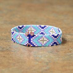 Blue Diamonds Native American Beaded Bracelet by PuebloAndCo, $14.99